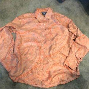 Ralph Lauren Tops - Ralph Lauren 100% Silk Shirt